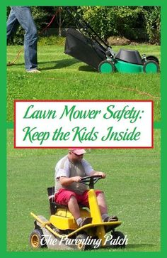 The best way to keep children safe around lawn mowers is to keep kids away from the powerful machines. Keep your kids safe by keeping them inside and away from running lawn mowers.