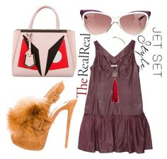 """Jet Set Style With DJ Mia Moretti & The RealReal: Contest Entry"" by arrow1067 ❤ liked on Polyvore featuring мода, Christian Louboutin, Nina Ricci, Chanel, Fendi и Yves Saint Laurent"