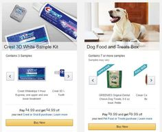 FREE Crest 3D Whitening or Dog Food & Treat Sample Boxes After Promo Credit!!!   KouponingWithKatie