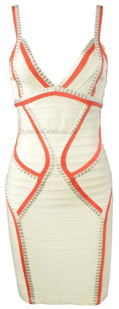 'Summer' Silver Foil Detail Bandage Dress