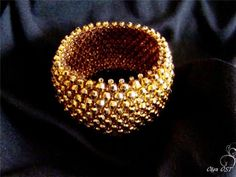 Браслетик - не простой, а золотой!   biser.info - всё о бисере и бисерном творчестве