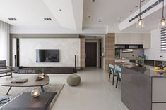 Fresh and elegant residential in Taiwan by HOZO interior design 01