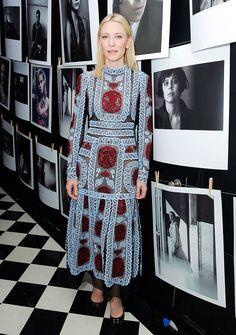 Кейт Бланшетт, Руни Мара, Кристоф Вальц на вечеринке W Magazine