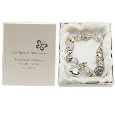 BRIDESMAID MOTHER OF THE BRIDE/GROOM MAID OF HONOUR BRACELETS WEDDING GIFTS | eBay