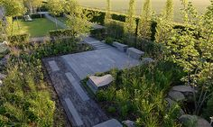 project LAGA Show garden right on the lake Category: Private garden - garden with water - Formal garden Size: 600 m² Location: Zülpich, Germany