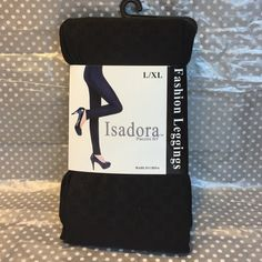 "Fashion Print Legging. Fashion Print Legging. Style# LEG70. 90% polyester. 10% spandex. Size L/XL - height: 5'5""-5'10""  -- weight: 135-180 lbs. Isadora Accessories Hosiery & Socks"