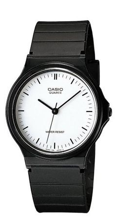 Casio Men's MQ24-7E Classic Analog Watch Casio. $10.79. Resin case; white dial. Quartz movement. Plastic crystal. Case diameter: 37.5 mm. Save 51%!