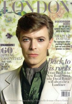 David Bowie on the Cover of the London Magazine-