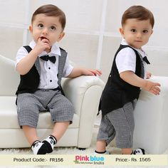 Baby Boys Clothes Sets Summer Cotton Children Clothing Sets For Kids Gentleman Bowtie Plaid Swallowtail Romper Outfits Toddler Baby Boys Gentleman Bowtie Plaid Swallowtail Romper Jumpsuit Outfits Boys Summer Outfits, Little Boy Outfits, Toddler Boy Outfits, Kids Outfits, Summer Clothes, Boys Dress Outfits, Baby Boy Dress Clothes, Babies Clothes, Romper Outfit