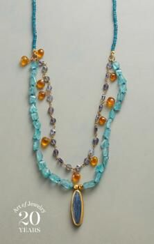 Nava Zahavi mingles warm and cool gemstones to lovely effect on her beautiful multi-level necklace