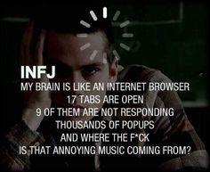 The INFJ brain is like...