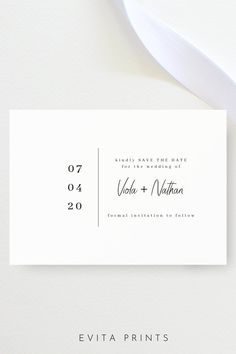 Minimalist Wedding Save the Date, Modern Save the Date, Save Our Date, Wedding Date Announcement, Editable Instant Download Wedding Save the Date Template, Printable Save the Date Card Save The Date Designs, Save The Date Templates, Wedding Templates, Modern Save The Dates, Wedding Save The Dates, Save The Date Cards, Bachelorette Party Invitations, Bridal Shower Invitations, Electronic Save The Date