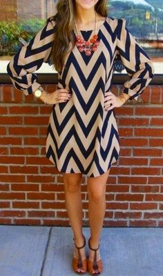 Blue and brown Chevron Dress, follow the pic for more details and pricing
