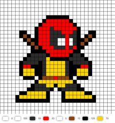 X-Men Deadpool perler bead pattern