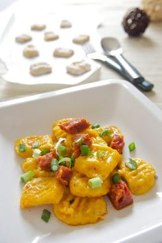 Pumpkin Gnocchi with Chorizo Brown Butter Sauce