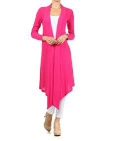 Another great find on #zulily! Fuchsia Draped Duster by Pretty Young Thing #zulilyfinds