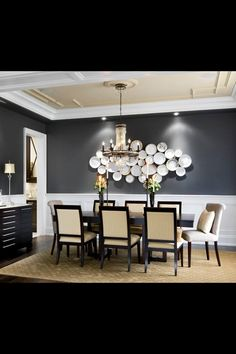Wall Decor For Dining Room love blue dining rooms. sherwin williams foggy day is a nice muted