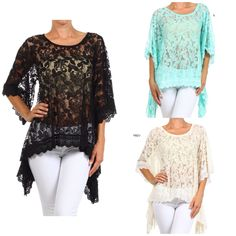 886853d5150 New arrivals at Southern Charm Shop-Southern-Charm.com Lace tunic tops with  handkerchief hemline Available in mint