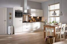 Salerno Superkeukens #hoogglans #magnolia #modern #rvs #keukenapparatuur #antraciet #grijs #keukens #3Dontwerp