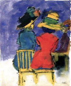 Emil Nolde, Ladies in the cafe on ArtStack #emil-nolde #art