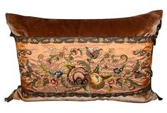 Pillow w/ 19th-C. Embroidered Silk on OneKingsLane.com