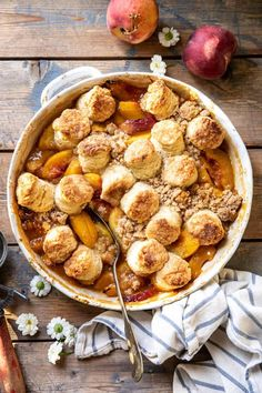 Delicious Desserts, Dessert Recipes, Dessert Food, Peach Crumble, How To Make Biscuits, Buttery Biscuits, Half Baked Harvest, Thing 1, Cobbler