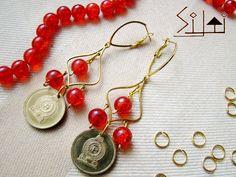 Money earrings: Sri Lankan coins 5 rupee earrings by SiltiCrafts