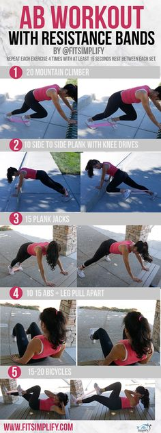 The Best Workout Routines for Abs ? - - The Best Workout Routines for Abs ? – The Best Workout Routines for Abs ? Resistance Band Abs, Resistance Workout, Exercises With Resistance Bands, Fun Fitness, Fitness Tips, Physical Fitness, Shape Fitness, Fitness Motivation, Fitness Exercises