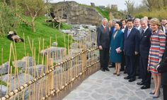 King Philippe and Queen Mathilde entertain the visiting President and First Lady of China the group visit the Brussels Zoo for a look at Chinese pandas 3/30/14