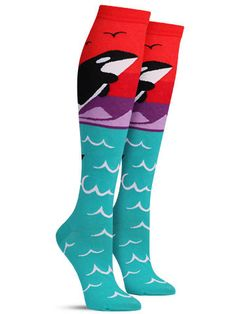 Orca Knee High Socks