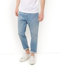#Blue washed slim tapered jeans  ad Euro 29.99 in #New look #Mens shop department jeans