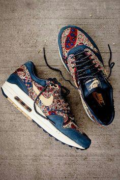 paisley Nike sneakers --