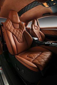 Audi S5 от ателье Vilner. Love the diamond stitching