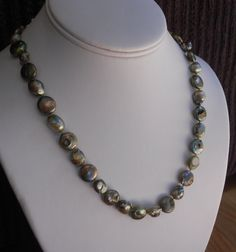 Green pearl necklace by LoveHAIGHTDesigns on Etsy, $32.00