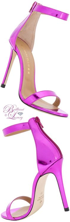 Brilliant Luxury ♦ Marc Ellies pink ankle strap stiletto sandals in pantone fashion color 2018 ~ spring crocus