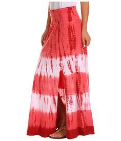 Allen Allen Bamboo Long Tie Dye Skirt Guava/Apple - Zappos.com Free Shipping BOTH Ways