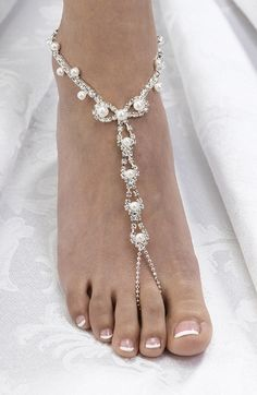 #Beach wedding jewel footwear …