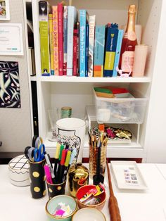 jacob's desk is dotted with samples from the kate spade new york home collection—and ceramics from his own line! (kate spade new york home)