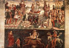 Francesco del Cossa - Palazzo Schifanoia, salone dei mesi, Allegory of April, Triumph of Venus