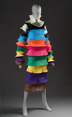 Issey Miyake's designs is an expression of the art of the designer and the wearer. Her Pleats Please collection was the most profitable collection in 1993.