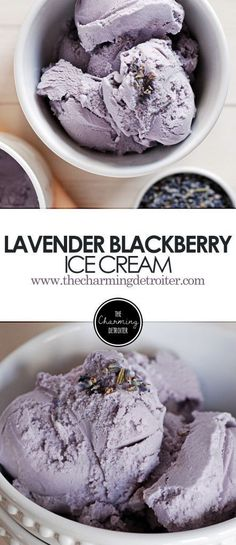 Lavender Blackberry Ice Cream: Tart blackberries are paired with fragrant lavender in this gorgeous springtime ice cream.