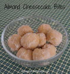 Almond Cheesecake Bites - 4-ingredient, low carb, super yummy