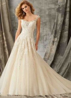 Wedding Dress - Mori Lee - Angelina Faccenda Couture FALL 2015 Collection: 1351 - Crystal Beaded Embroidery and Venice Lace Decorate the Tulle Ball Gown Western Wedding Dresses, 2016 Wedding Dresses, Wedding Dress Styles, Tulle Wedding, Wedding Gowns, Bridesmaid Dresses, Tulle Ball Gown, Ball Dresses, Ball Gowns