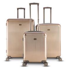 Gabbiano Genova Collection 3 Piece Hardside Spinner Luggage Set d97fa0e3ba0a4