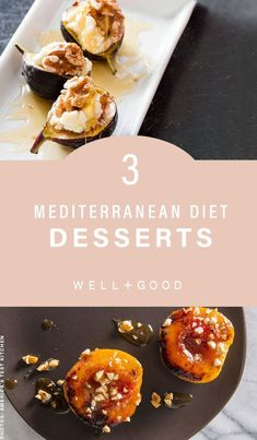 """Check out these healthy Mediterranean diet dessert recipes from """"The Complete Mediterranean Cookbook"""" by America's Test Kitchen, out now. Heart Healthy Desserts, Diet Desserts, Healthy Dessert Recipes, Gourmet Recipes, Superfood Recipes, Healthy Treats, Healthy Food, Mediterranean Desserts, Mediterranean Diet Cookbook"""