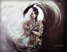 Hel, Norse Goddess of the Underworld. Collaboration by kolakis on DeviantArt