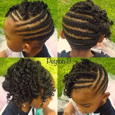 Natural Hairstyle Cornrows  Protective style for kids