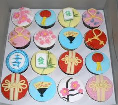 Chinese Theme Cupcakes by specialcakes/tracey, via Flickr