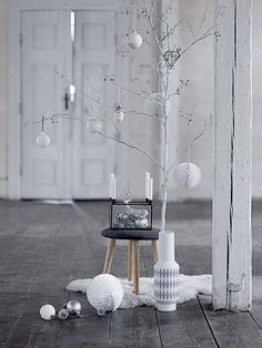 Bloomingville - Kerstster - H15 cm - Zwart