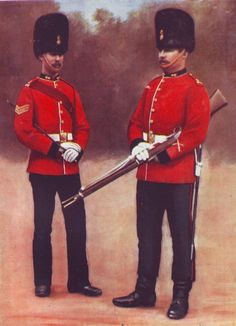 Royal Dublin Fusiliers in Home Service Uniform